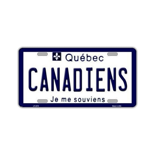 NHL Hockey License Plate Cover - Montreal Canadiens