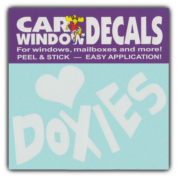 "Window Decal - Love Doxies (4.5"" Wide)"
