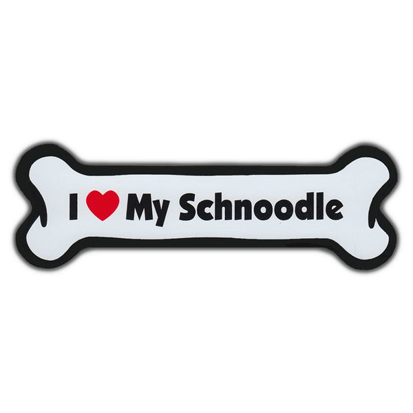 Dog Bone Magnet - I Love My Schnoodle