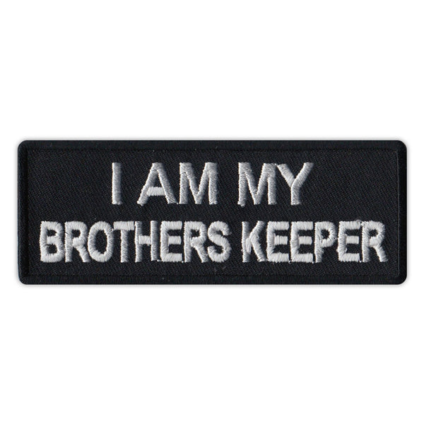 Patch - I Am My Brother's Keeper (Black/Silver)