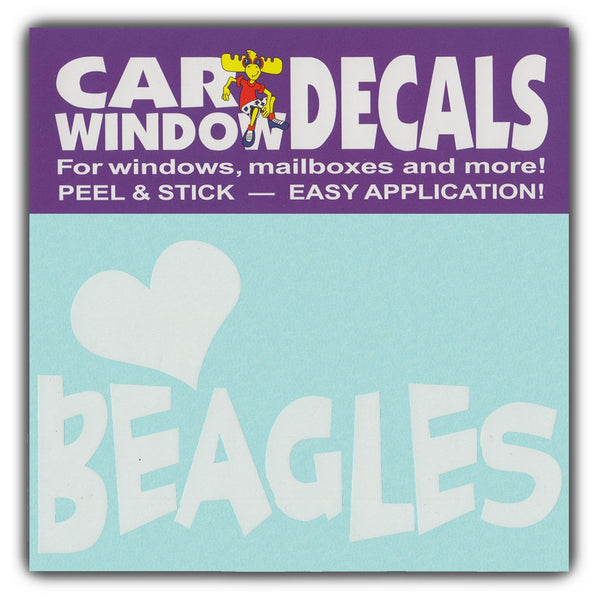 "Window Decal - Love Beagles (4.5"" Wide)"