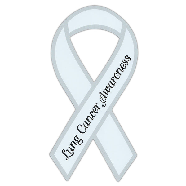 Ribbon Magnet - Lung Cancer Awareness