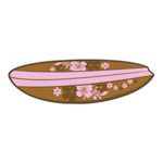 "Magnet - Surfboard (Hawaiian Flowers, Pink) (6.75"" x 2"")"