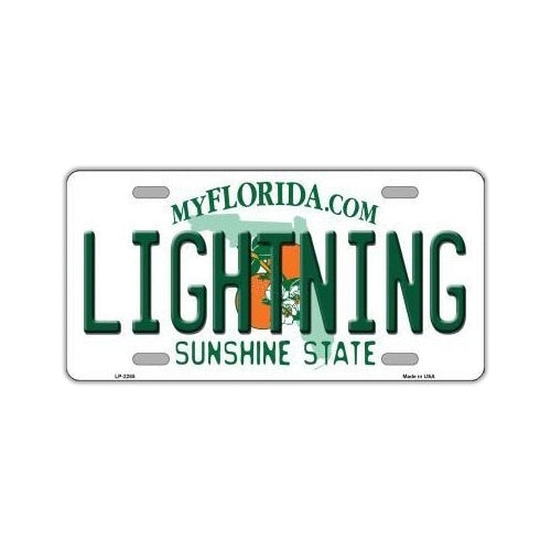 NHL Hockey License Plate Cover - Tampa Bay Lightning