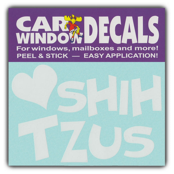 "Window Decal - Love Shih Tzus (4.5"" Wide)"