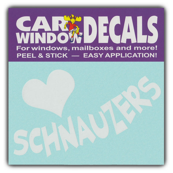 "Window Decal - Love Schnauzers (4.5"" Wide)"