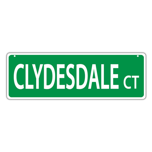 Street Sign - Clydesdale Court