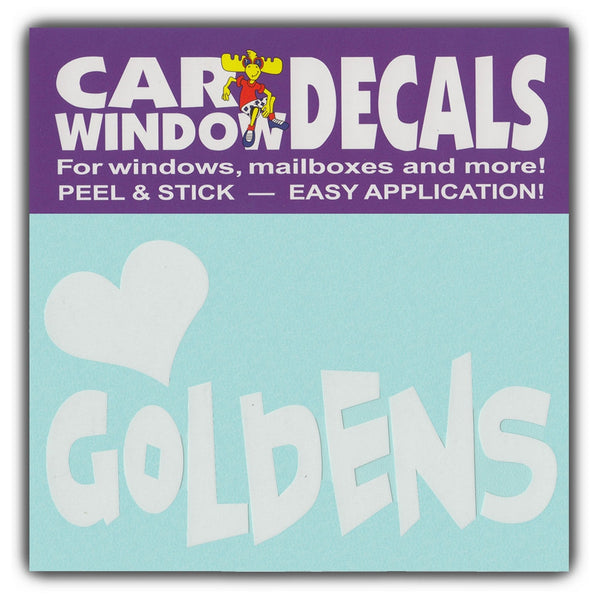 "Window Decal - Love Goldens (4.5"" Wide)"