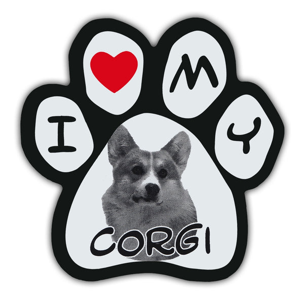 Picture Paw Magnet - I Love My Corgi