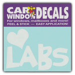 "Window Decal - Love Labs (4.5"" Wide)"