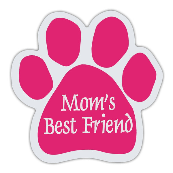 Pink Dog Paw Magnet - Mom's Best Friend