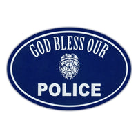 Oval Magnet - God Bless Our Police