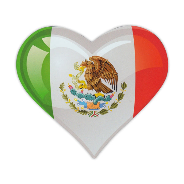 "Magnet - Mexican Flag Heart (4.75"" x 4.75"")"