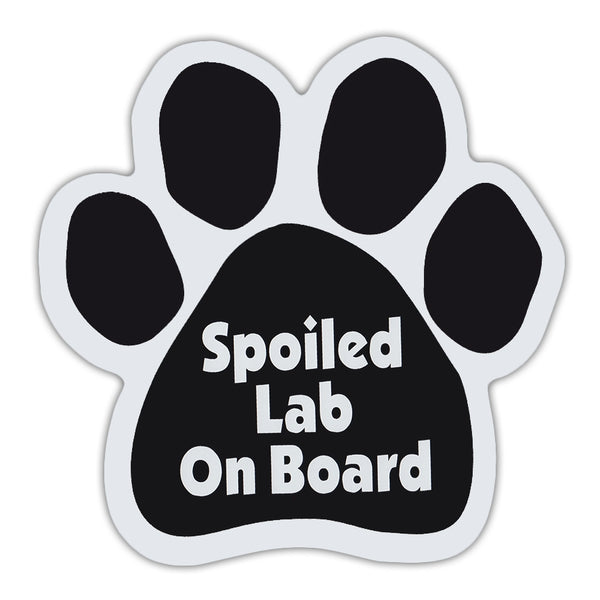 Dog Paw Magnet - Spoiled Lab On Board