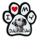 Picture Paw Magnet - I Love My Dalmatian