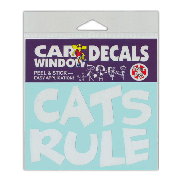"Window Decal - Cats Rule (4.5"" x 3"")"