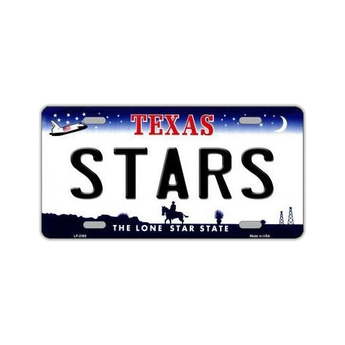 NHL Hockey License Plate Cover - Dallas Stars