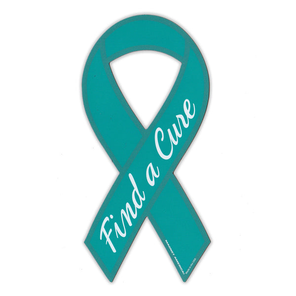 Ribbon Magnet - Ovarian Cancer Support