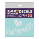 "Window Decal - Love Goldendoodles (4.5"" x 3"")"