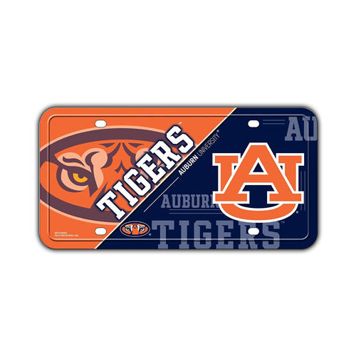 Embossed Aluminum License Plate Cover - Auburn University Tigers