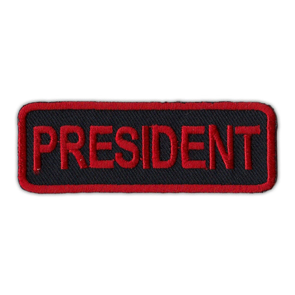 Patch - President- Red/Black