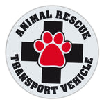 Round Magnet - Animal Rescue Transport Vehicle