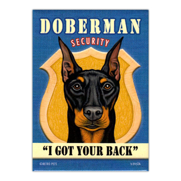 Refrigerator Magnet - Doberman Security