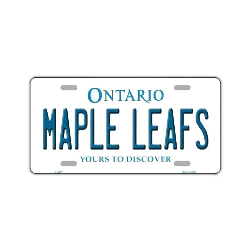 NHL Hockey License Plate Cover - Toronto Maple Leafs