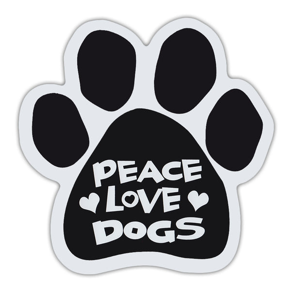 Dog Paw Magnet - Peace Love Dogs