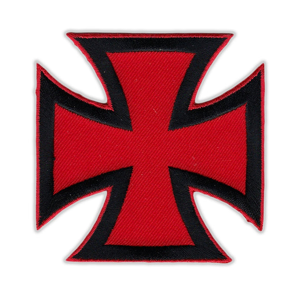 Patch - Maltese Cross (Red, Black)