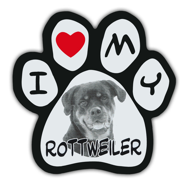 Picture Paw Magnet - I Love My Rottweiler