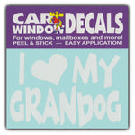 "Window Decal - I Love My Grandog (4.5"" Wide)"