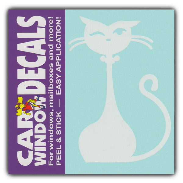 "Window Decal - Fancy Prissy Cat Figure (4.5"" Tall)"