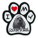 Picture Paw Magnet - I Love My Cocker Spaniel