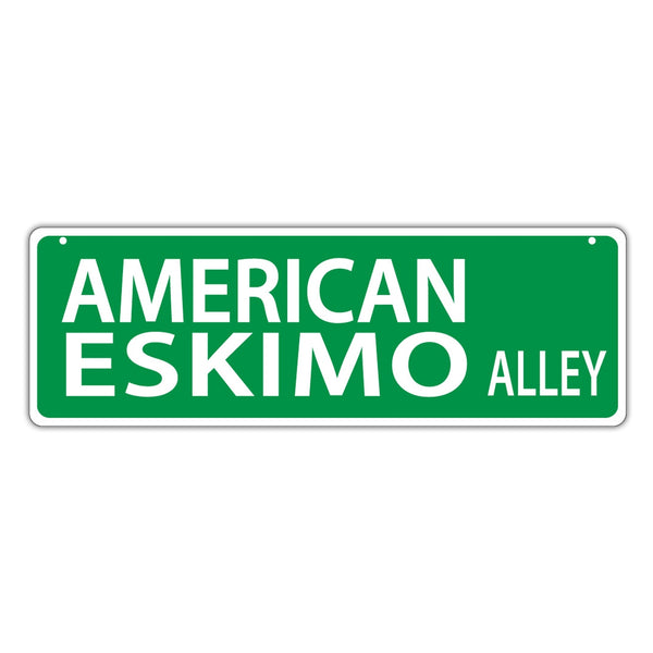 Street Sign - American Eskimo Alley