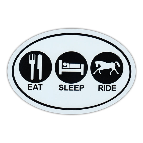 Oval Magnet - Eat - Sleep - Ride