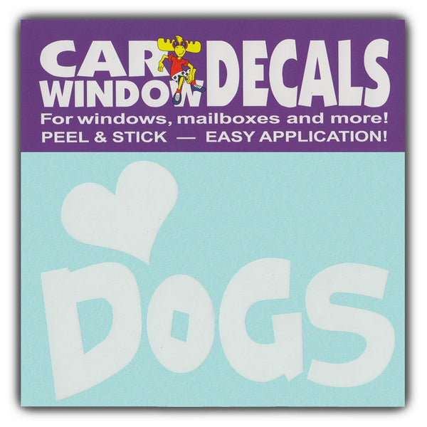 "Window Decal - Love Dogs (4.5"" Wide)"