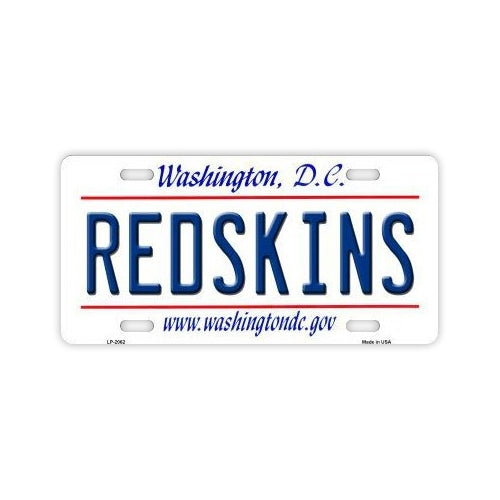 License Plate Cover - Washington Redskins