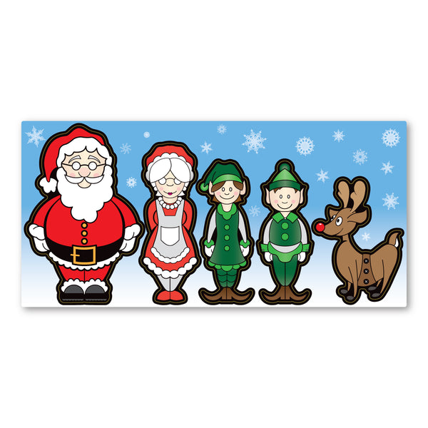 "5 Piece Magnet Set, Christmas Figurines (1.5"" x 4"" - 3.25"" x 5"" Each)"