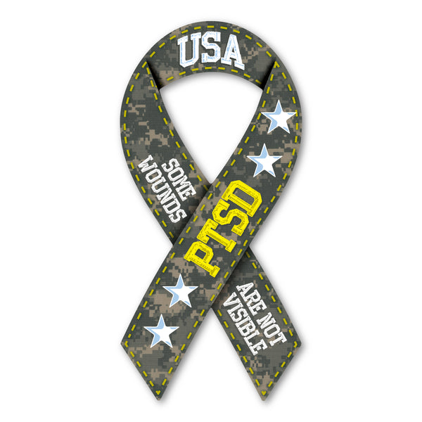 Ribbon Magnet - PTSD Support
