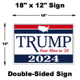 Donald Trump 2024 Yard Sign Measurements