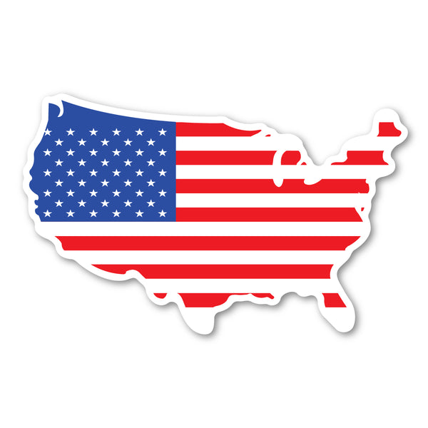 "Magnet - USA Flag Magnet (United States Shaped) (8"" x 5"")"