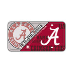 Embossed Aluminum License Plate Cover - University of Alabama Crimson Tide