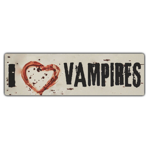 Bumper Sticker - I Love Vampires (Bloody Heart)