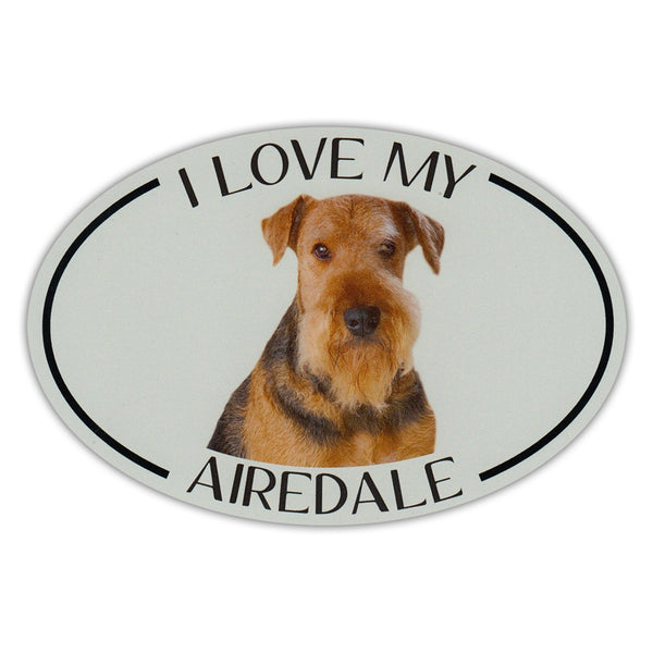 I Love My Min Pin Oval Dog Breed Picture Car Magnet Miniature Pinscher