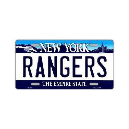 NHL Hockey License Plate Cover - New York Rangers
