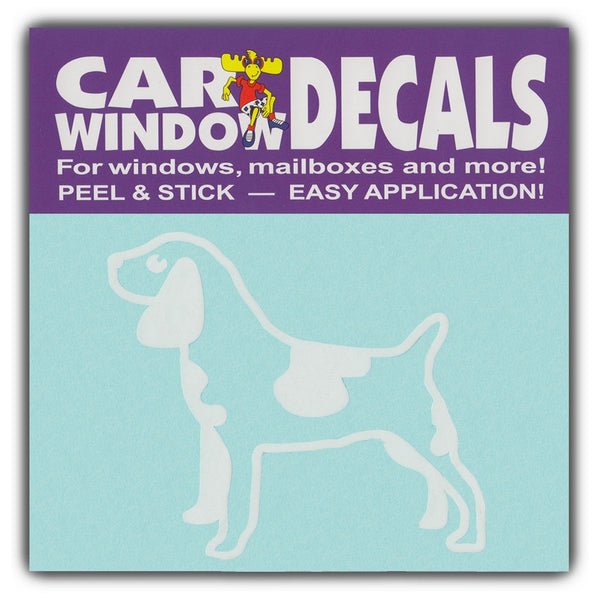 "Window Decal - Large Size Dog Breed (3.5"" Wide)"