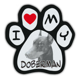 Picture Paw Magnet - I Love My Doberman