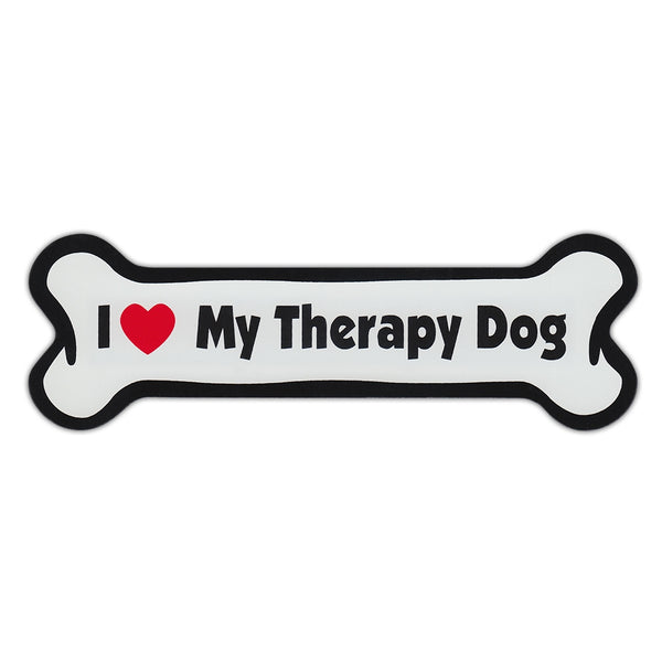 Dog Bone Magnet - I Love My Therapy Dog