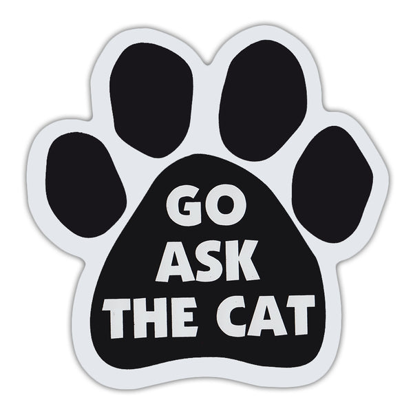 Cat Paw Magnet - Go Ask The Cat
